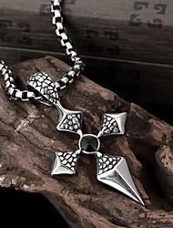 Cross Restoring Ancient Ways is Exaggerated Men Titanium Steel Pendant Necklace