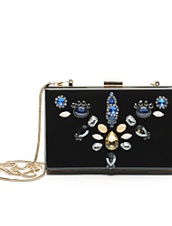 Women Metal Baguette Shoulder Bag / Clutch / Evening Bag / Coin Purse - Black