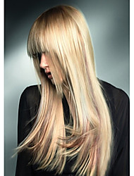 Top Quality Blonde Color Synthetic Long Straight Synthetic Wigs