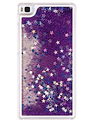 Case For Huawei P8 Lite Back Cover Flowing Quicksand Liquid Glitter Shine Plastic(PP/PVC/PC/ABS) Hard Case
