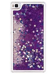 Capa Traseira Fluir Quicksand / Líquido Glitter Brilhante Plástico (PP / PVC / PC / ABS) DuroHuawei Huawei P8 Lite