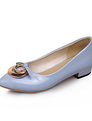 Women's Shoes Patent Leather Low Heel Pointed Toe Heels Wedding / Office & Career / Party & Evening / Dress  / Red