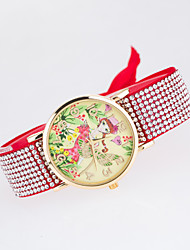 European Style New Fashion Trend Rhinestone Casual Colorful Dragonfly Beauty Bracelet Watch