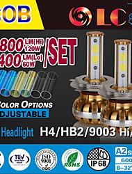 liancheng® 60w 6400lm 9 ~ 32v haute luminosité torchis conduit phare kit-h4 / 9003 / HB2 pour la voiture, hors route, UTV, atv