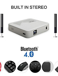 Dlp Portable Mini Projector for HomeTheater with Dual Band Wifi 2.4G/5G and Latest Android 4.4 System