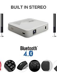 mini proyector DLP portátil para hometheater con doble banda wifi 2,4 g / 5g y el último sistema Android 4.4
