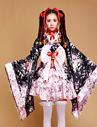 Anime japonés kimono vestidos sakura cosplay lolita