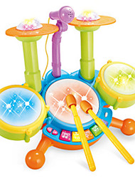 Brinquedos Musicais Hobbies de Lazer kit de bateria Plástico Amarelo Para Meninos Para Meninas 5 a 7 Anos 8 a 13 Anos