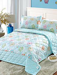 yuxin®korean Version von Schleifblätter Sommerklimaanlagensteppdecke Doppel Sommer kühl Quilt dünn Quilt Bettwäsche-Set
