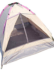 LANGYA Breathability / Quick Dry Polyester One Room Tent Light Pink
