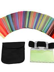 Sidande 30pcs Universal Speedlite Flash Color Filter Kit DSLR Camera Lamp Shade Color Card Canon Nikon Sony Pentax