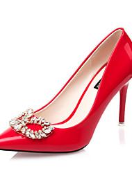 Women's Shoes  Stiletto Heel Heels / Pointed Toe / Closed Toe Heels Dress Black / Purple / Red / Silver