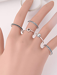 Women's Hot New European Fashion Punk Ring Set 5PCS