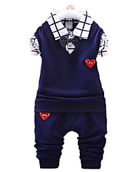 Boy's Cotton Clothing Set,Fall / Spring Solid