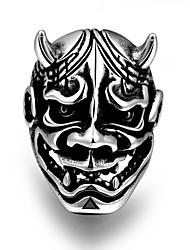 Кольца Без камня В форме черепа Others Уникальный дизайн Мода Halloween Для вечеринок Повседневные Спорт Бижутерия Сталь Мужчины Кольцо