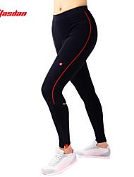 TASDAN Pantalons de Cyclisme Femme Vélo Pantalon/Surpantalon Collants Shorts RembourrésRespirable Séchage rapide La peau 3 densités