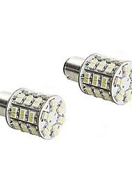 2pcs 1157 4W 60x3528 luz branca LED SMD lâmpada para lâmpada de freio do carro (12V DC)