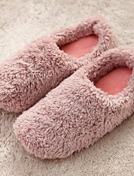 Men's Slippers & Flip-Flops Winter Comfort Wool Casual Flat Heel Gray Brown Blushing Pink