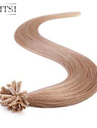 """neitsi 20 """"1g / с 50g кератина слияние у ногтей наконечник прямые Ombre расширения человеческих волос # 10"""