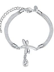 Femme Chaînes & Bracelets Zircon Cuivre Plaqué argent Goutte Argent Bijoux 1pc