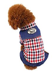 Dog Coat Red / Coffee Dog Clothes Winter Fashion
