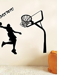 Dunk Decal Wall Stickers Art Home Decor Basketball Sports Just Do It Letter Quote Sticker For Boys Rooms