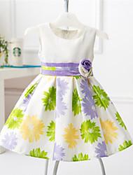 Robe Fille de Fleur Coton / Polyester Toutes les Saisons Rose / Violet