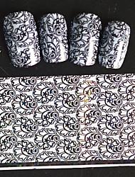 5pcs 20*4cm 2016 New Japanese White  Series Nail Art Lovely Image Design  Foils DIY Nail Sticker STZ Jw7