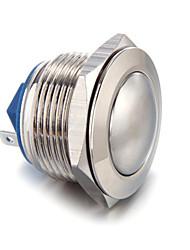 5a / 12v Drucktaster étrier pressostat vernickeltes de φ19m laiton klingeltaster