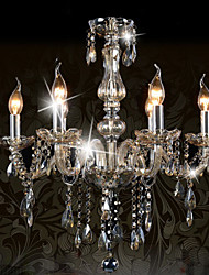 Ecolight™ 110V OR 220V 6 Lights Luxury Crystal Chandelier/Cognac Color/K9 Crystal Chandeliers Living Room / Bedroom