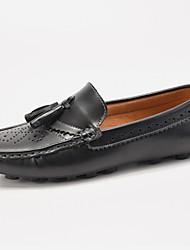Zapatos de Hombre Mocasines Boda / Oficina y Trabajo / Vestido / Casual / Deporte / Fiesta y Noche Sintético Negro / Marrón