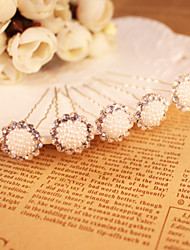Women's Rhinestone / Imitation Pearl Headpiece - Wedding / Special Occasion Hair Pin 2 Pieces Sale