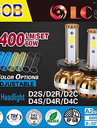 liancheng® 60w 6400lm 9 ~ 32V hohe Helligkeit cob LED-Scheinwerfer-Kit-d2 / d4 für Auto, Off-Road, utv, atv