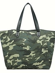 Women Canvas Shopper Tote - Green