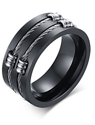 316 Pure Steel Wire Drawing Man Ring