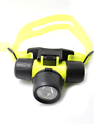 Glow-in-the-Dark 2-Mode Diving Headlamp with Rotary Switch (3xAAA)