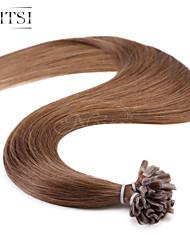 """neitsi 20 """"1g / с 50g кератина слияние у ногтей наконечник прямые Ombre человеческих волос 8 #"""