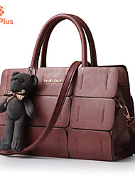 M.Plus® Women's Solid PU Leather Messenger Shoulder Bag/Tote