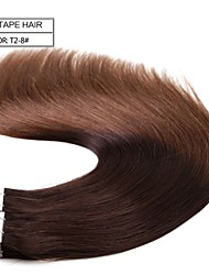 "Neitsi 20"" 50g 20pcs Tape In Human Hair Pu Skin Weft Hair Extensions Straight  T2-8"