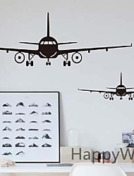 Window Airplane Family Kids Room Mural Travel Flight Plane Air Force Pilot Wall Vinyl Decal Sticker Fun Art Decor