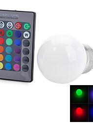 5W E26/E27 Ampoules Globe LED T 1 LED Intégrée 100-200 lm RGB Commandée à Distance / Décorative AC 85-265 V 1 pièce