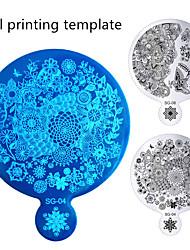 nieuwe 1pcs hoge kwaliteit spiegel vorm nail art afbeelding platen staal polish ontwerp druk stencil schimmel nagel stempelsjabloon
