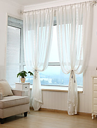 Jacquard Floral Stripe Sheer Curtain (Two Panel)