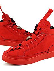 Femme-Décontracté / Sport-Noir / RougeConfort-Sneakers-Synthétique