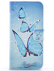 For Samsung Galaxy Case Card Holder / Rhinestone / with Stand / Flip / Pattern / Magnetic Case Full Body Case Butterfly PU Leather Samsung