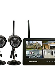 Two Wireless DVR Infrared Night Vision 7-inch Monitor Super Far Wireless Transmission