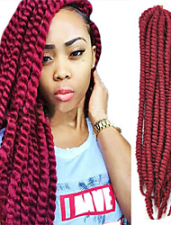Black African Hot Style 22 'and MAMBO Big TWIST Braid Dirty Braid Wine Red Colors 1PCS
