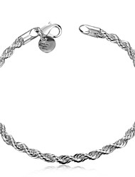 Lureme® Charming Jewelry Silver Plated Twisted Rope Chain Bracelets for Women