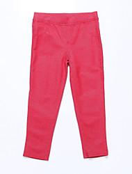 Pantalones Chica de - Todas las Temporadas - Algodón - Rojo