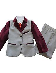 Ring-Träger Anzug-3-Rosa-Polyester/Baumwollmischung
